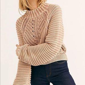 Free people sweetheart sweater camel S